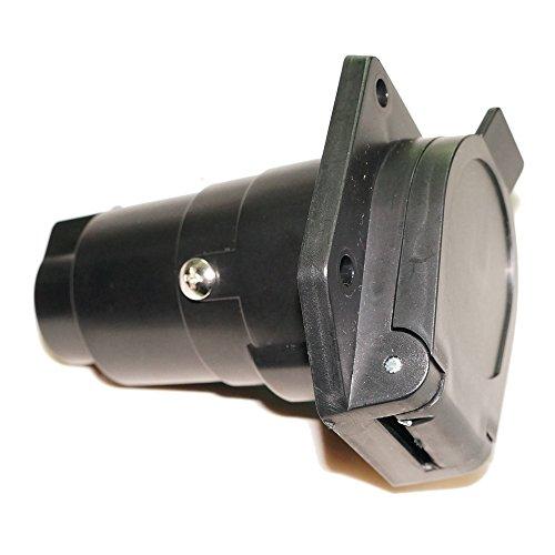 King Company 7 Pin Trailer Plug 7 Pin Flat Blade Plug Connector Adapter 12V Tow Bar Socket (Tow Vehicle Rv)