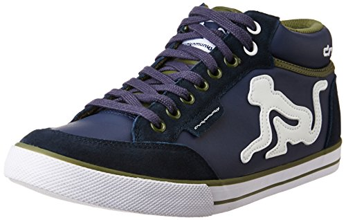 Drunknmunky Unisex Boston Classic Mid Navy Blue and Military Green Sneakers  - 10 UK India (44 EU)  Buy Online at Low Prices in India - Amazon.in 3dfbb5f64cb