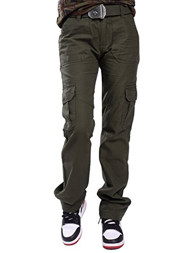 Army Surplus Wool Pants (Menschwear Women's Outdoor Wild Cotton Casual Military Army Cargo Camo Combat Pants (30,Green))