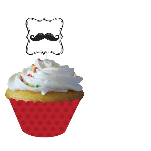 Creative Converting Mustache Madness 12 Count Cupcake Wrappe