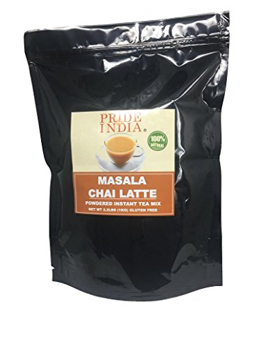 Pride Of India - Masala Chai Latte - Powdered Instant Tea Premix, 1 Kilo (2.2 lbs) Pack (Makes 100 Cups) from Pride Of India