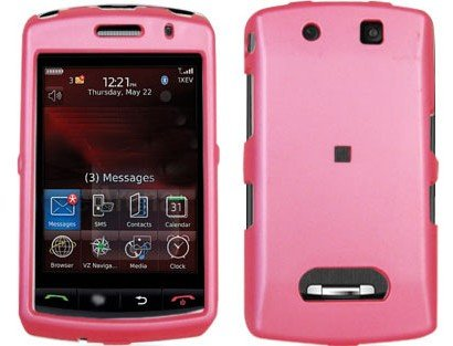 Rubberized Plastic Cover Case Pink For BlackBerry Storm 9530 9500 -