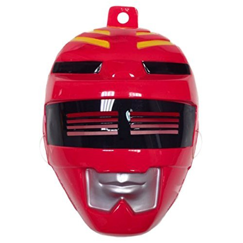 Red Power Ranger Mask Costume Accessory