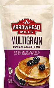 Arrowhead Mills Multigrain Pancake & Waffle Mix, Organic, 26 Ounce Bag (Pack Of 6)