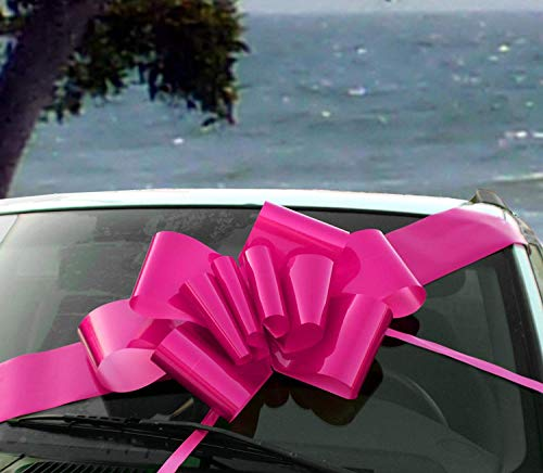 Large Fuchsia Pink Car Bow - 23