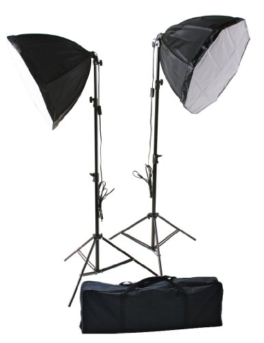 ePhoto 2 x 24'' Octagon Daylight Photographic Studio Constant Light Softbox Lighting Kit New H9018 by ePhotoinc