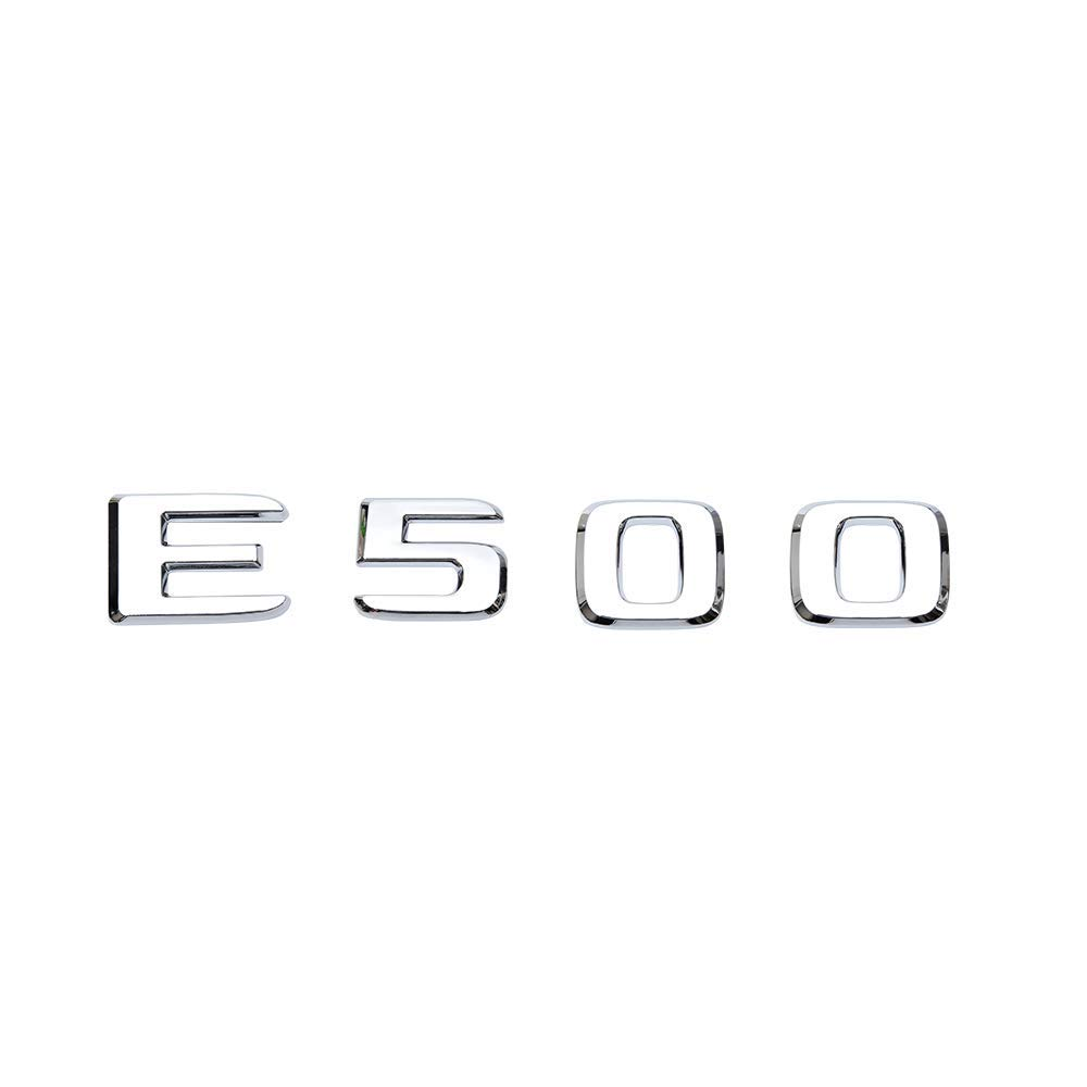 For Mercedes W211 W212 E-CLASS E500 Chrome Numbers letter Stickers Rear Trunk Lid Emblem E 500