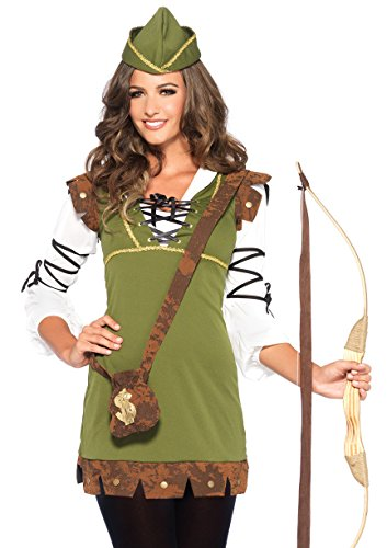 Leg Avenue Women's Classic Robin Hood Costume, Olive, Medium/Large