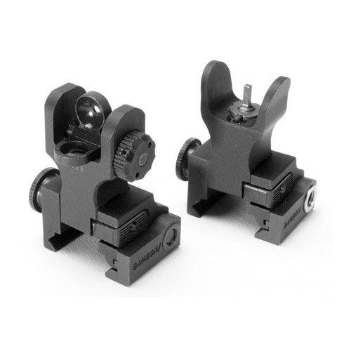 Samson Folding Front Sight HK/Flip Up Rear Sight Set, Black by Samson Manufacturing