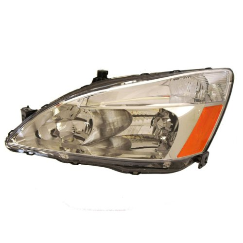 2003-2004-2005-2006-2007 Honda Accord 4-Door Sedan or 2-Door Coupe Headlight Headlamp Front Halogen Composite Head Lamp Light Left Driver Side (03 04 05 06 07)