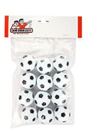 Set of 12 Soccer Ball Style Foosballs for Tornado, Dynamo or Shelti Tables