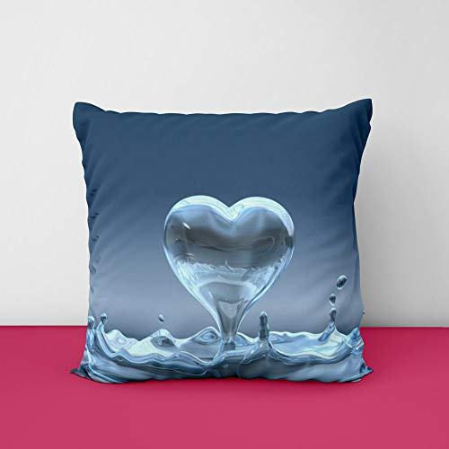 41AnfWMIX2L Water Drop Heart Love Square Design Printed Cushion Cover