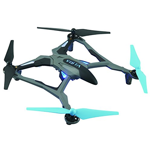 Dromida Vista Unmanned Aerial Vehicle (UAV) Quadcopter Ready-to-Fly (RTF) Drone with Radio System, Batteries and USB Charger (Blue)