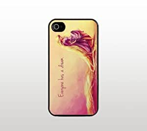 Rapunzel Quote iPhone 5 5s Case - Hard Plastic Snap-On Custom Cover - Black - Everyone has a dream.