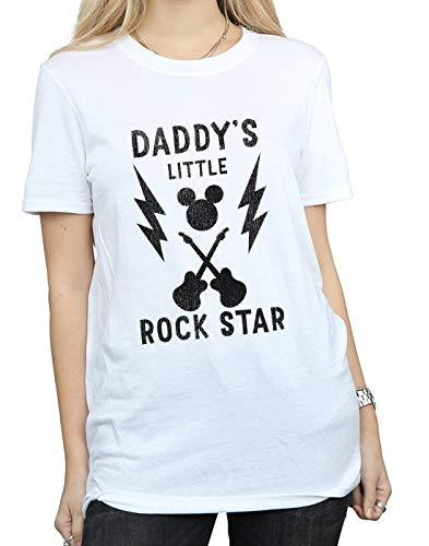 T shirt Mouse Bianca Disney Fit Daddy's Star Mickey Rock Boyfriend Donna pwqHS0P