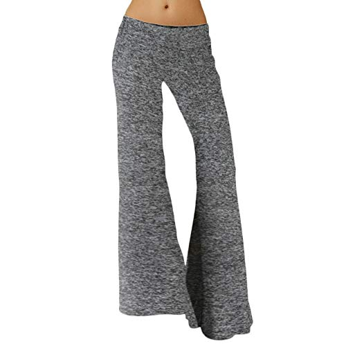 - Women Yoga Pants Myoumobi_ Bootcut Yoga Pants High Waist Tummy Control Sports Fitness Pants Flare Yoga Pants Dark Gray