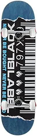 """Black Label Skateboard Assembly Ripped Barcode Assorted Colors 8.88"""" x 33.25"""""""
