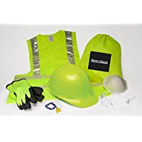 Safety Sacks All-in-One Construction Safety Kit, Hard...