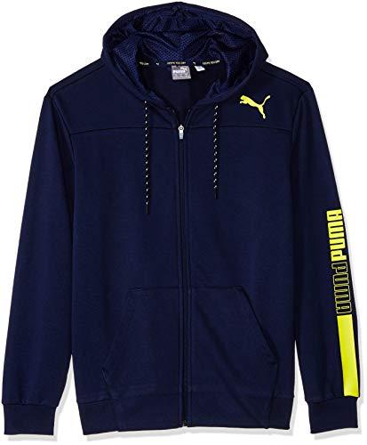 PUMA Men's Modern Sports Hooded Jacket, Peacoat M