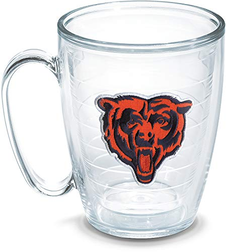 Tervis 1049174 NFL Chicago Bears Bear Emblem Individual Mug, 16 oz, Clear]()