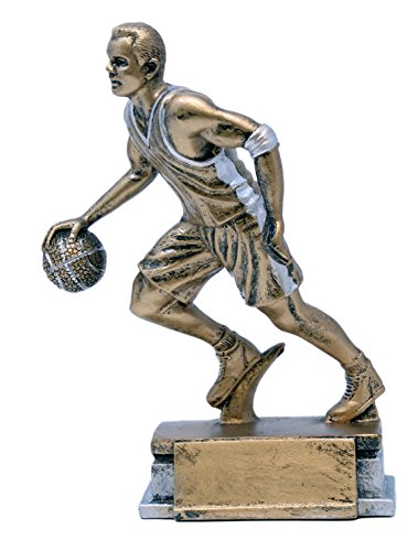Decade Awards Basketball Sport Series Trophy, Male - Hoops MVP Award - 7.5 Inch Tall - Engraved Plate on Request
