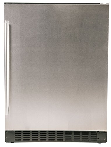 Azure 24″ Refrigerator with Solid Stainless Steel Door, A124R-S