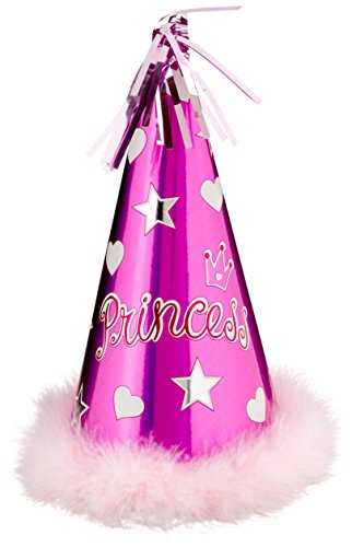 Amscan Princess Foil Hat w/Marabou | Royalty Collection | Party Accessory