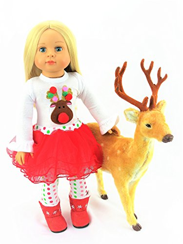 Christmas Reindeer Tutu 3pc. Set | Fits 18