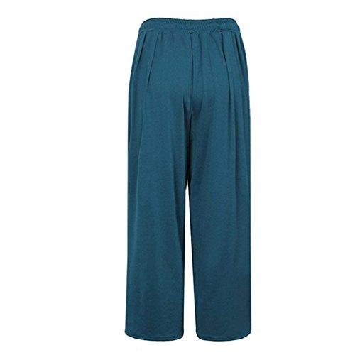 Donna Larghi Libero Culotte Forti Lounayy Pantalone Accogliente Pantaloni Baggy Monocromochic Taglie Tempo Coulisse Eleganti Gr Palazzo Leggero Dritti 4ppxza