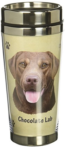 Image of E&S Pets Stainless Steel Chocolate Lab Tumbler, 16 oz