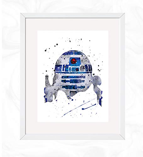 with R2D2 Posters design
