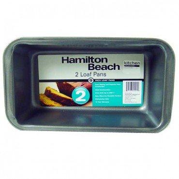 "Hamilton Beach Set of 2 Non-Stick 9"" Loaf Pans"