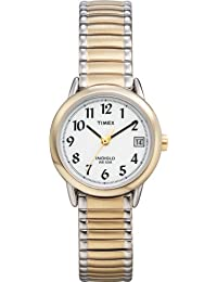 Timex Women's T2H381 Easy Reader Two-Tone Expansion Band Watch
