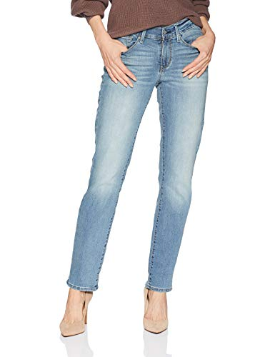 Signature by Levi Strauss & Co Women's Curvy Straight Jeans Pants, Blue Velvet, 14 Medium