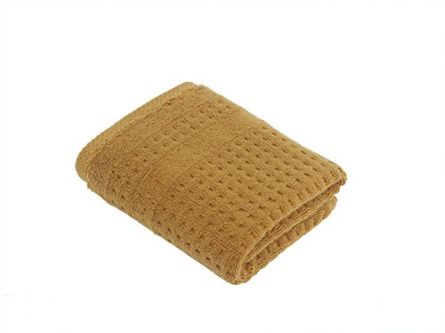 turkishtowelmarket Hiera Home 100% Original Turkish Cotton Checkers Hand Towel, Mustard Bath 30' Double Towel