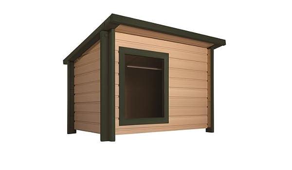 Estilo rústico y Lodge Eco Caseta., mejor que de plástico, de madera de mejor que la mejor de ambos.: Amazon.es: Productos para mascotas