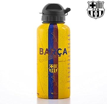 Alusport Bottles FCB Himno Botella Deportiva de Aluminio, Hombre, Amarillo, 0.4 l