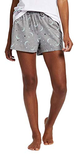 Is Womens Good Life Shorts - Life is Good Women's Knit Sleep Short Starry Moons, Heather Gray, Large