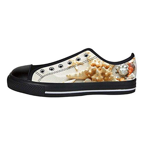 Custom Spiaggia delle stelle marine Mens Canvas shoes I lacci delle scarpe in Alto sopra le scarpe da ginnastica di scarpe scarpe di Tela.
