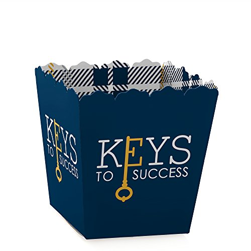 Grad Keys to Success - Party Mini Favor Boxes - Graduation Party Treat Candy Boxes - Set of 12]()