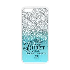 "BESTER Fitted I can do all things through Christ who strengthens me - Philippians 4:13 - Bible verse Apple iPhone Case iPhone 6 4.7"" TPU (Laser Technology) Case Protector Cover Case"