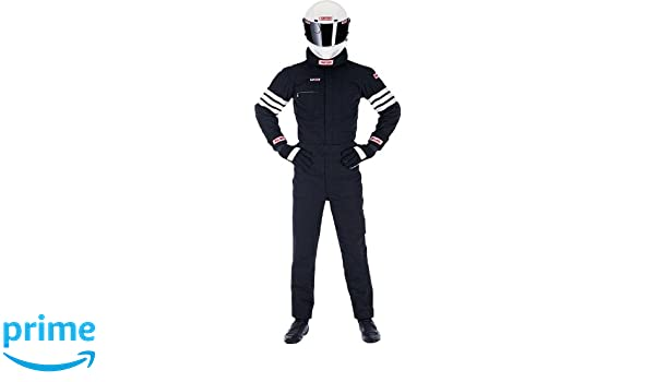 Amazon.com: Simpson Racing 0402211 Gabardine Medium Black ...