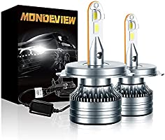 MONDEVIEW Phare LED Ampoule H7 H4 H1 H11 60W 6000K 16000LM