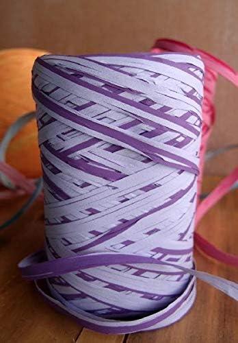 Purple POSHNPRETTY Upscale 5mm Fibrolated Raffia Roll 50 Meters Choose Colors