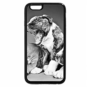 iPhone 6S Plus Case, iPhone 6 Plus Case (Black & White) - Cute puppies