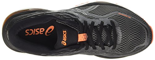 Asics Gel-Cumulus 19, Scarpe da Ginnastica Uomo Nero (Carbon / Black / Hot Orange)