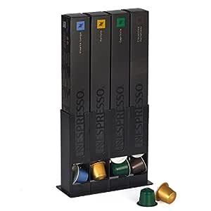 HiveNets Porta Cápsulas Almacenamiento de café Pods para Nespresso Metal Caja capacidad 40 pcs