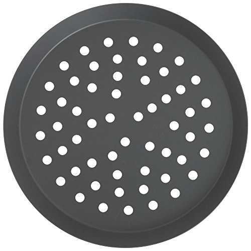 American Metalcraft Hard Anodized Aluminum Perforated Tapered Pizza Pan - 10