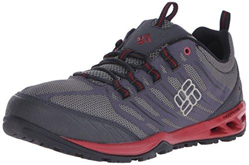 Columbia Ventrailia Razor - Zapatos de Low Rise Senderismo Hombre Multicolor (Charcoal/Red Dahlia)