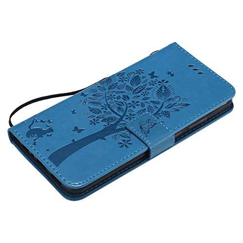 2018 À Herbests Motif Etui Housse Galaxy De Case Avec Magnétique Wallet Bleu Mince Flip Protection gris Ultra J6 Pour Rabat cartes En Cuir Porte Coque IB4Iq